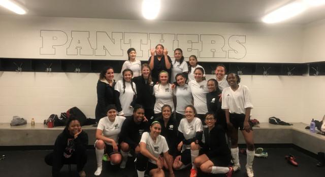 Harrison High School Girls Varsity Soccer beat Mesa Ridge High School 1-0