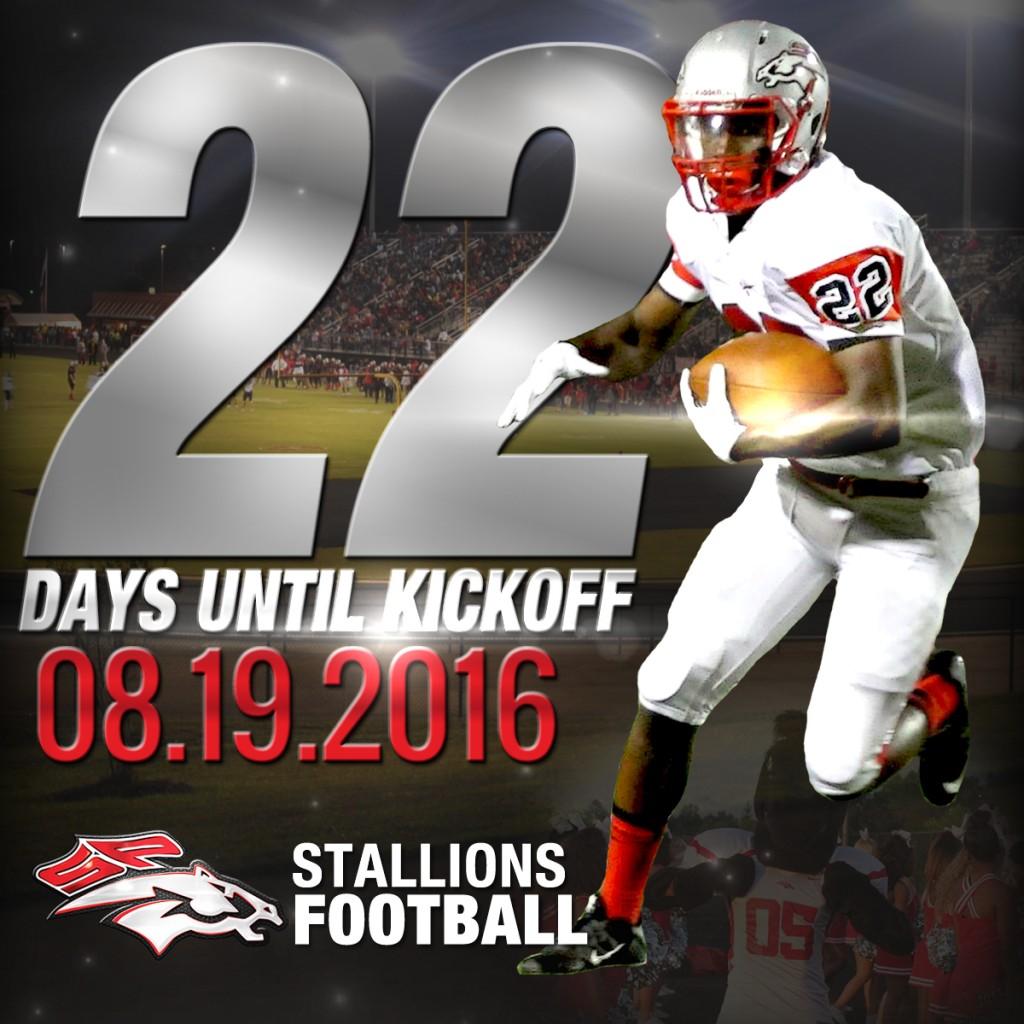Countdown – 22 days to Kickoff