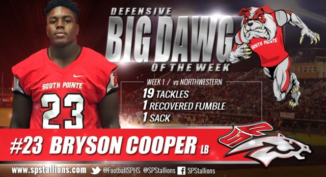 Big Dawg Player of the Week Cooper #23