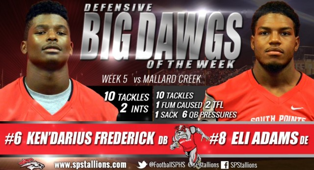 Big DAWGS of the Week  Sept 16