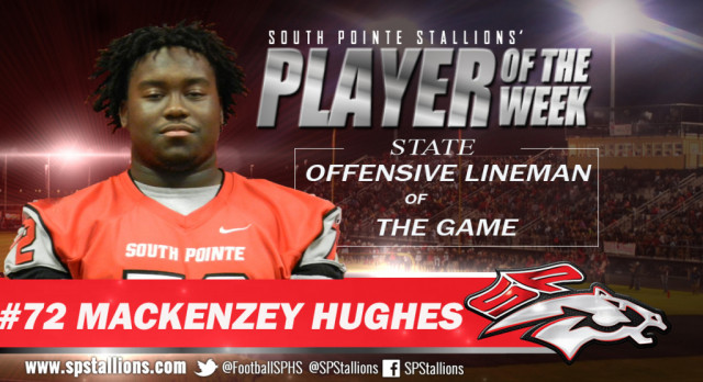 Offensive Lineman of the Game – State Championship Mackenzey Hughes