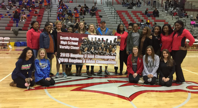 Cheer Team Recognized at Next Level Night at BB Games 1/31
