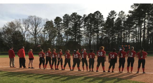 South Pointe High School Varsity Softball beat Northwestern High School 5-3