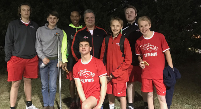 South Pointe High School Boys Varsity Tennis beat Richland Northeast High School 6-1