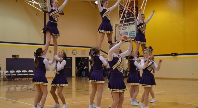 Cheerleaders Lead School Spirit