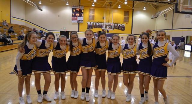 MS Cheerleaders lead School Spirit