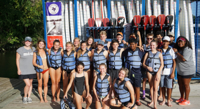 Tennis Team Goes Paddle Boarding