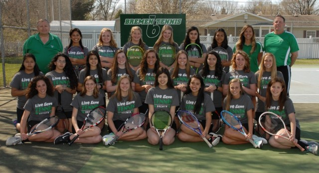 Girls Tennis Places 3rd at NIC Tournament