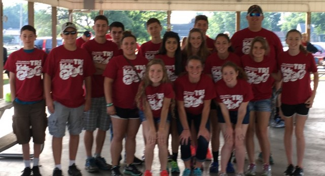 Bremen Cross Country & Track Teams volunteer for Bremen Kid's Triathlon