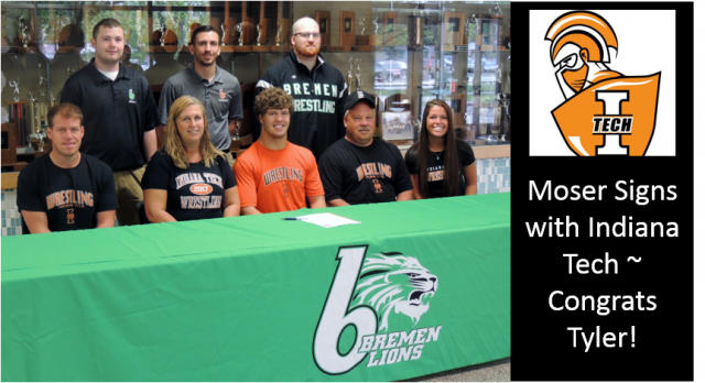 Tyler Moser Signs with Indiana Tech