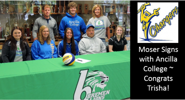 Trisha Moser Signs with Ancilla