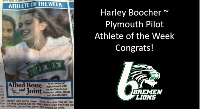 Plymouth Pilot Athlete of the Week