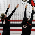 Varsity Volleyball wins at the Bird Cage