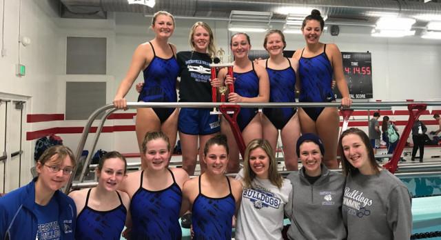 Batesville High School Girls Varsity Swimming finishes 1st place