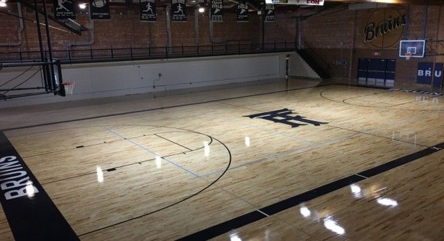 Baun Gym floor almost ready