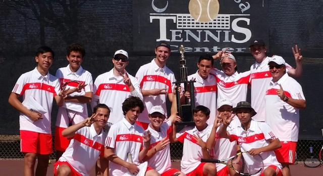 Boys Tennis- Team Competition Champs at Saturday's Hank Lloyd high school event