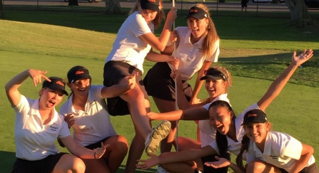 Girls Golf breaks the school record AGAIN!!!