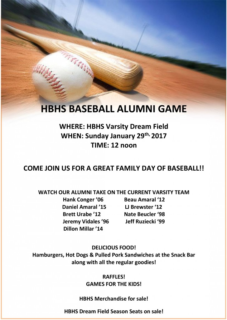 Hb Baseball Alumni Game This Sunday  This Is The Home Of