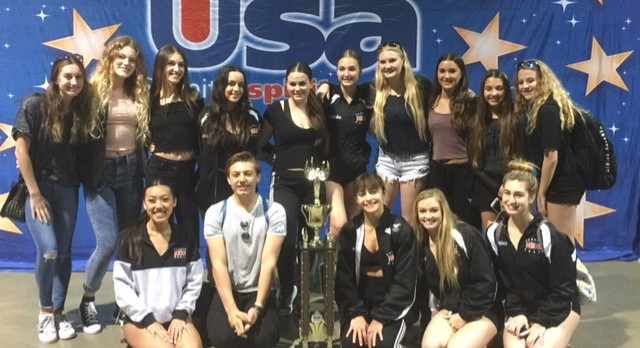 HBHS Dance Team takes 1st Place at USA Nationals in Long Beach!