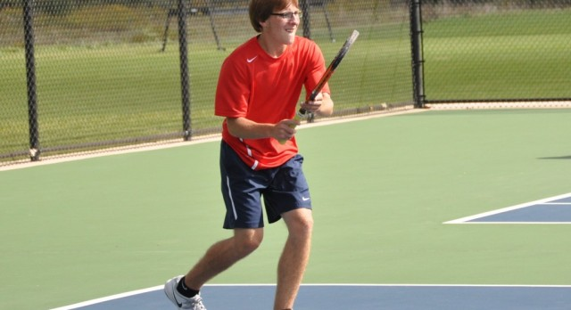 Boys Tennis Faces Tough Competition at Whitehall Tri
