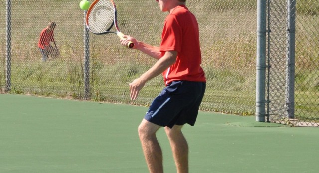 Cardinal Tennis Splits at Alma Tri
