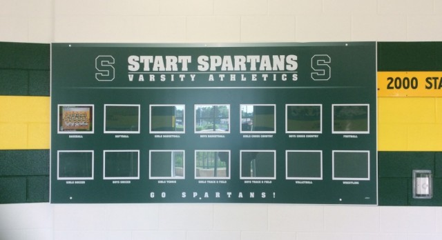 Varsity Team Picture Board new to Athletic Lobby