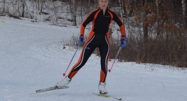 Nordic Ski Team Competes at Woodland Trails