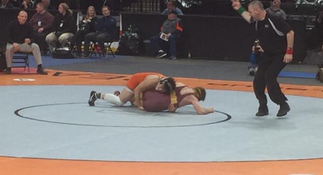 Nick Carline Medals at State Wrestling