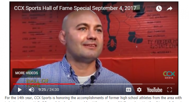 McConville Inducted into CCX Sports Hall of Fame