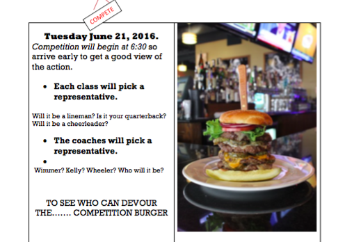 Dine & Donate 6/21 to support FHS Football