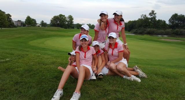 Fishers High School Girls Varsity Golf beat Noblesville High School 158-179