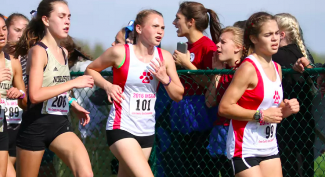 Fishers High School Girls Varsity Cross Country finishes 8th place
