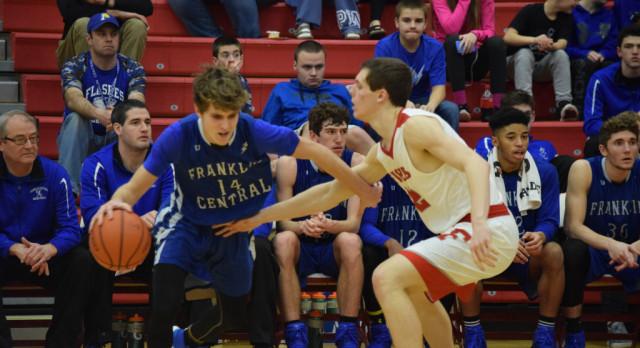 Boys Varsity Basketball falls to Franklin Central High School 66-30