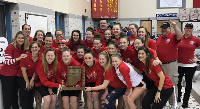 Fishers High School Girls Varsity Swimming finishes 1st place