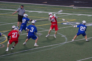 Joe O'Connell's Shot attempt during Friday night's Mudsock game.