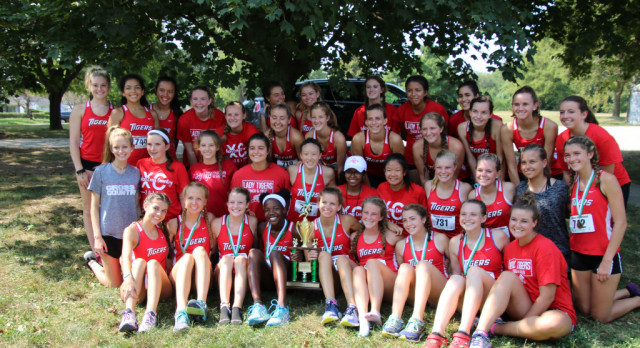 Fishers High School Girls Varsity Cross Country finishes 1st place