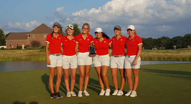 Fishers High School Girls Varsity Golf beat Hamilton Southeastern High School 166-167