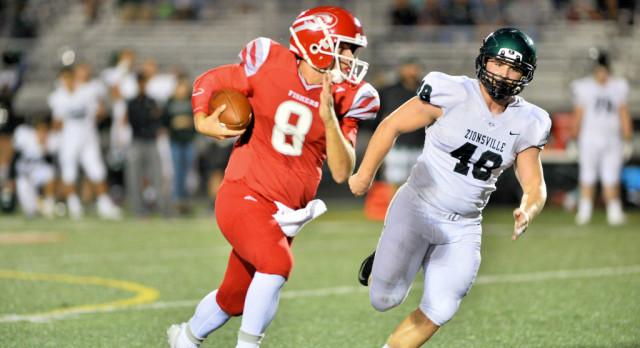 Varsity Football beat Zionsville High School 23-10