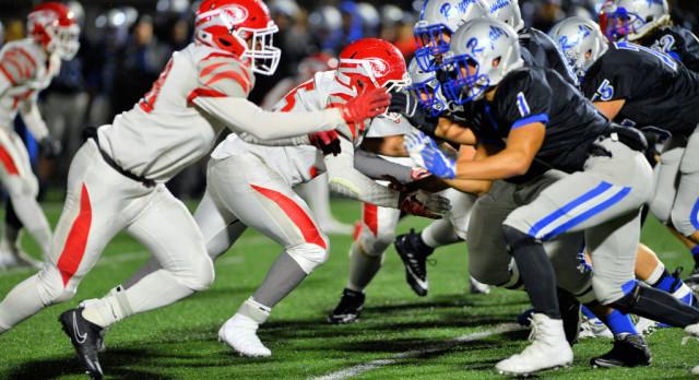 Varsity Football beat Hamilton Southeastern High School 9-6
