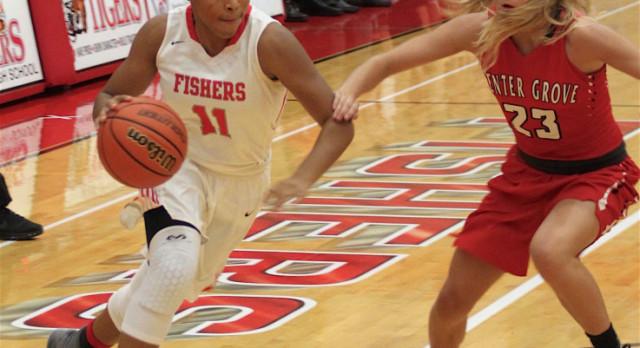 Fishers High School Girls Varsity Basketball falls to Center Grove High School 43-30
