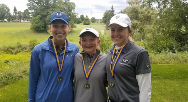 Michigan City High School Girls Varsity Golf finishes 3rd place