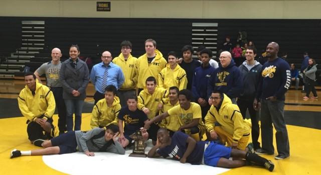 Eastern Quaker's Wrestling Wins District