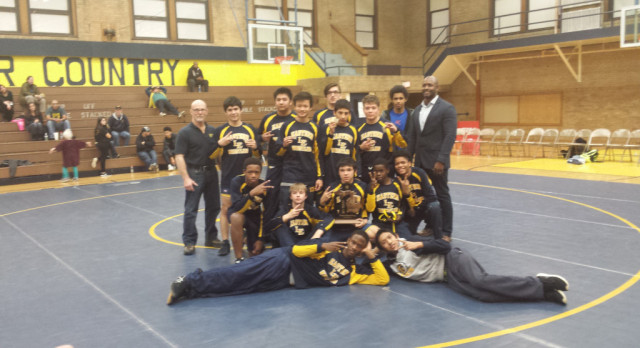 Wrestling Wins District Title