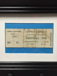 1958 Football Ticket