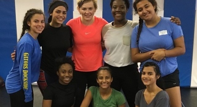 Girls Wrestling trains with 2016 Olympian