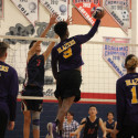 Boys Varsity Volleyball Action
