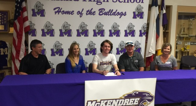Midland High Swimmer Signing