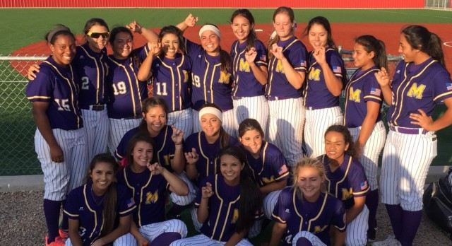 Midland Senior High School Varsity Softball defeats North Crowley 25-0 in the Bi-district Championship