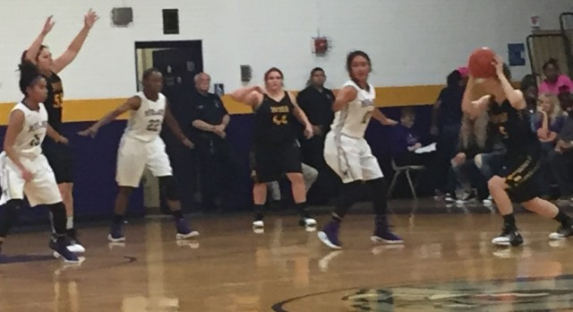 Midland Senior High School Girls Varsity Basketball falls to Cedar Park High School 52-43