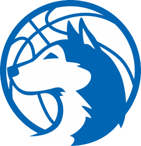 Huskies Basketball logo - white background
